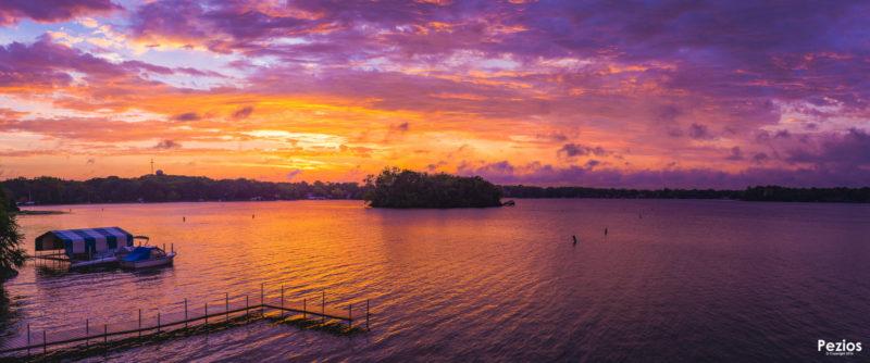 Sunset over Gideon Bay